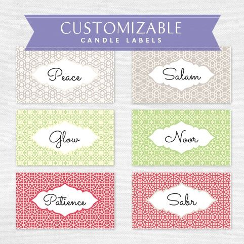 Luscious image inside free printable candle labels