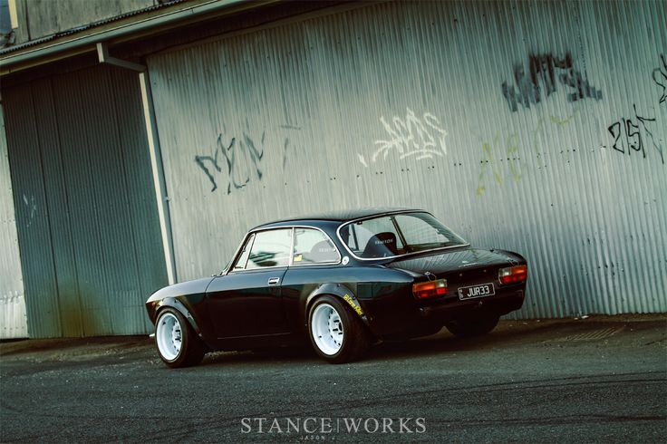 Jason J's SR20-Swapped Alfa Romeo 2000 GTV - StanceWorks... as I said I just dont aprove the Nissan engine
