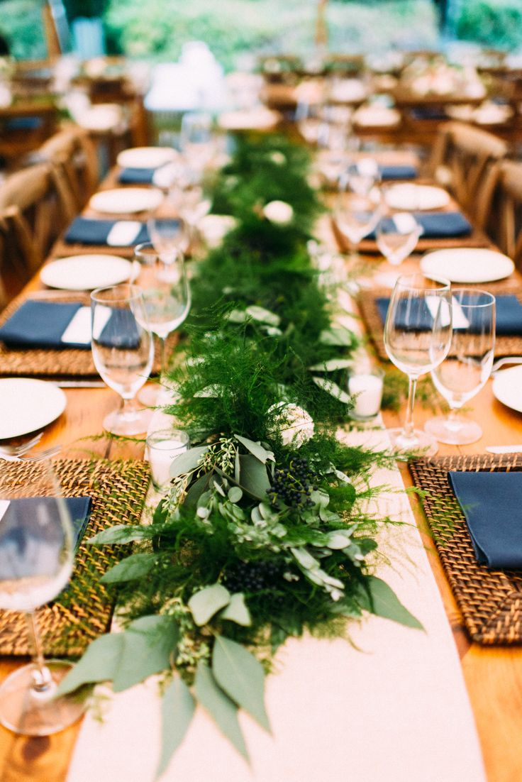 long table setup wedding reception%0A Rustic Summer Wedding at Josias River Farm