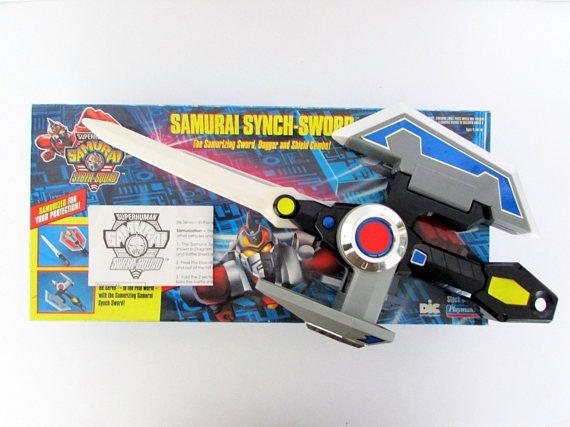 Vintage 1994 Superhuman Samurai Syber-Squad Synch-Sword