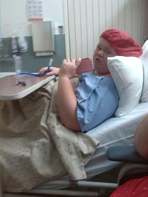 Jemma in hospital pre -op