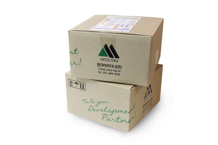 Korea Matsutani  Parcel service Box Package design / Designed by B.say