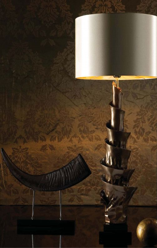 Signature Collection Grand Scale Sculptural Form Lamp Bronze Luxury Hotel Contract Orders Welcome