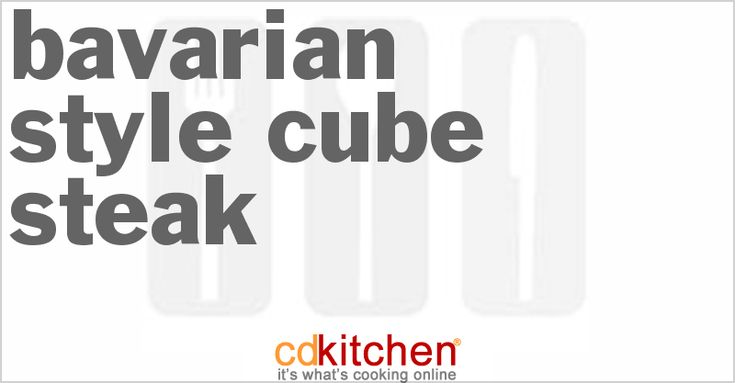 A 5-star recipe for Bavarian-Style Cube Steak made with oil, beef cube steaks, onions, water, dry mushroom soup mix, brown sugar, white vinegar