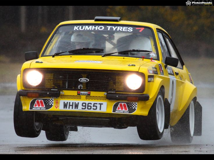 Ford Escort Mk2 Rally Car - Yellow Car