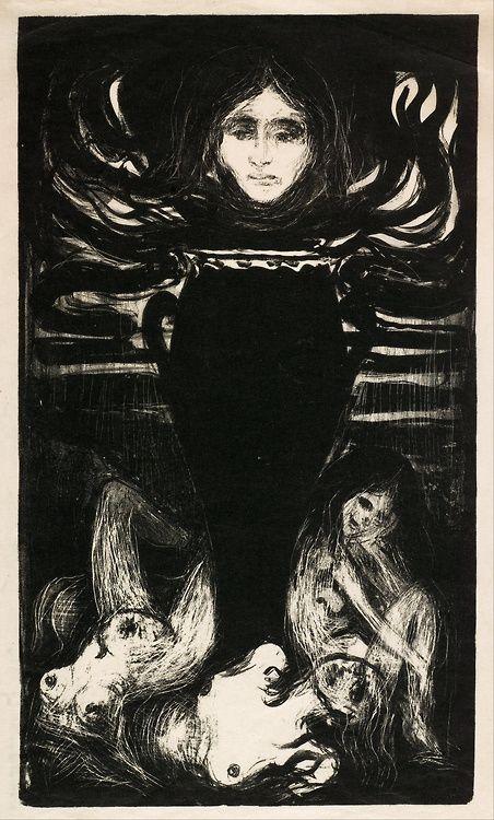 Edvard Munch: The Urn, 1896.