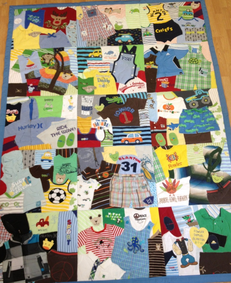 First Year Quilt Custom Made Baby Clothes Memory by 22HANDS....Little One MUST have this!!!!