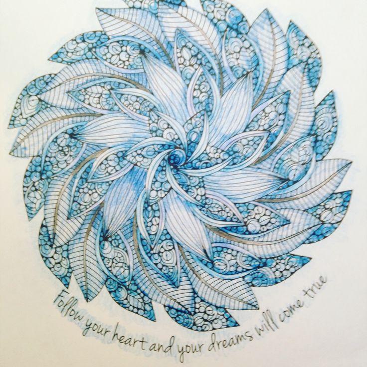 Follow Your Heart Mandala #ColorLife