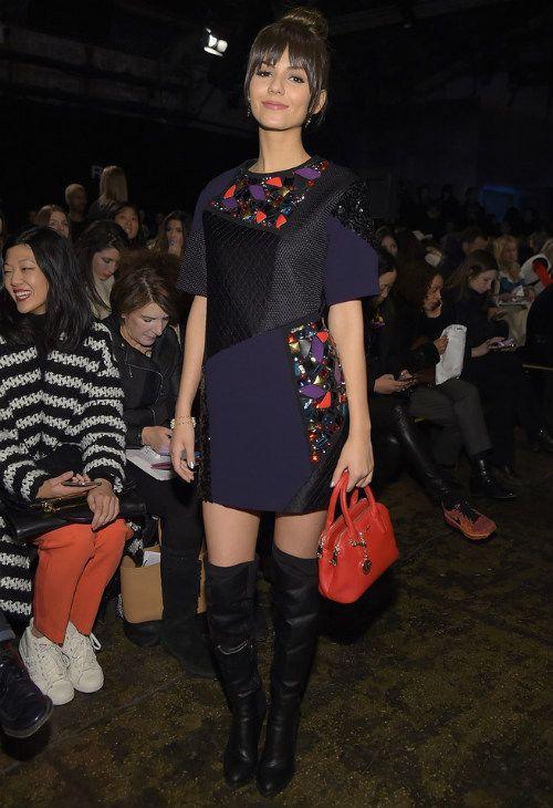 2/15 #ヴィクトリア・ジャスティス NY Fashion Week Fall 2015  海外セレブ最新画像・私服ファッション・着用ブランドまとめてチェック DailyCelebrityDiary*