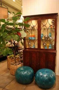 Mahogany Bookcase or Cabinet - Mecox Gardens