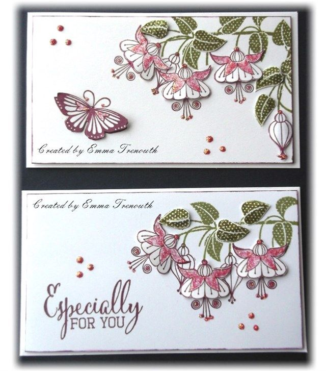 LittleEm's   docrafts.com mini cards using clearly besotted stamps
