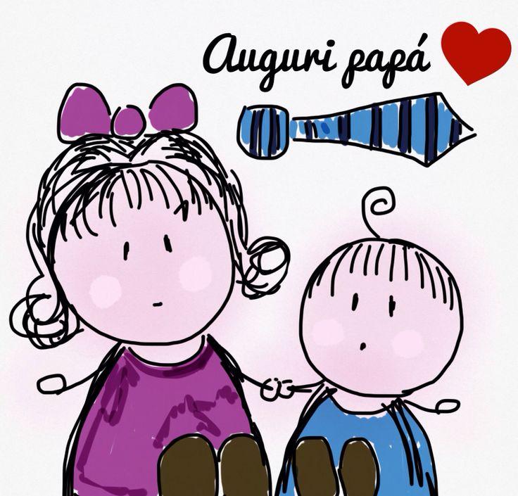 Festa del papà. Mondi di Thalia & Zeno. Disegni di Georgia Conte. Copyright Georgia Conte