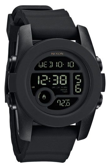 Nixon 'The Unit 40' Round Digital Watch available at #Nordstrom $100