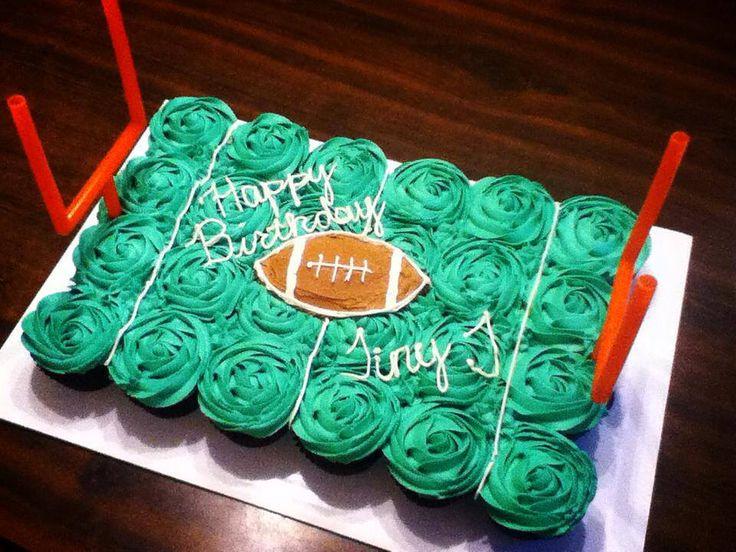 Football Cupcake Cake