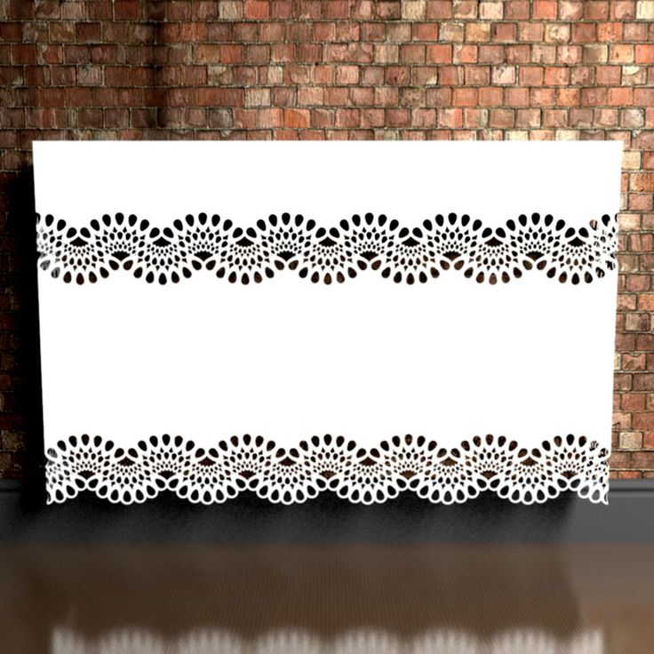 Chantilly Lace radiator covers - the ultimate in  style and sophistication - close up the detail is unbelievable