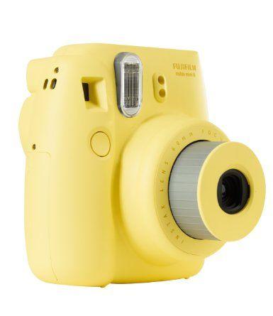 Fujifilm Instax Mini 8 Fotocamera Istantanea per Stampe Formato 62x46 mm, Giallo: Amazon.it: Elettronica
