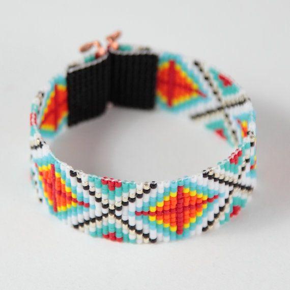 Ranchero perlina Loom Bracciale gioielli di PuebloAndCo su Etsy