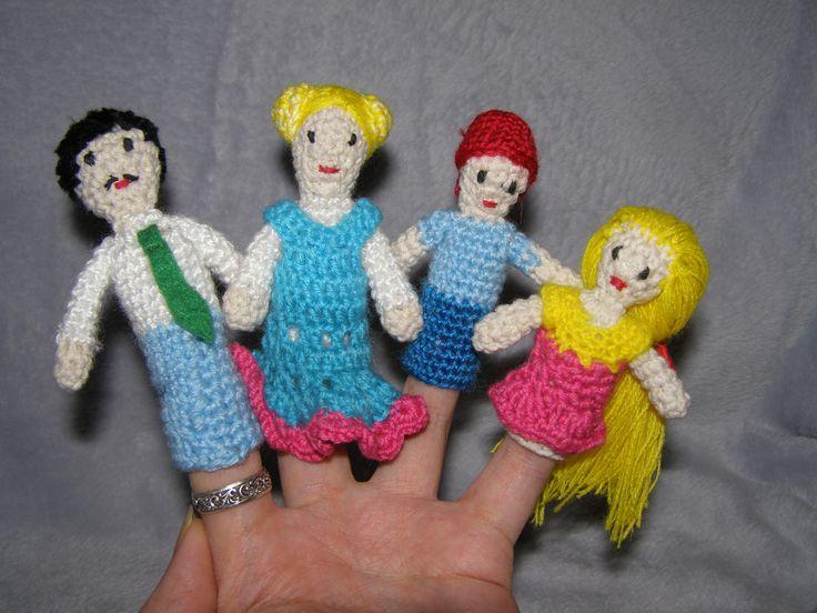 """Пальчиковый театр """"Моя семья"""". #игрушки_крючком #пальчиковый_театр_крючком #вязание_купить #ручное_вязание #вязание_на_заказ #вязаная_одежда #вязание_крючок #handmade"""
