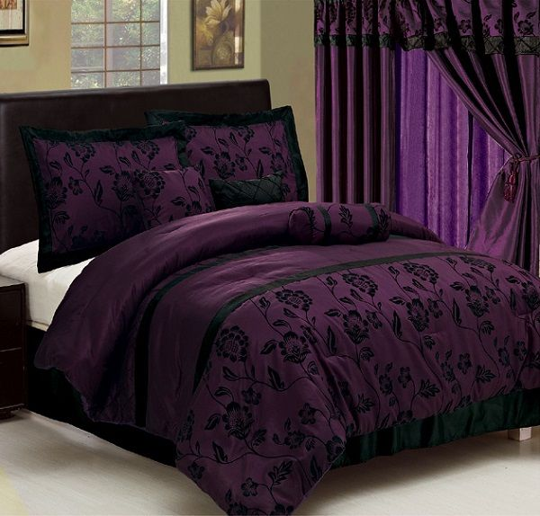 32 best images about purple and black bedding on pinterest bunk beds for girls purple - Dark purple bedroom for girls ...