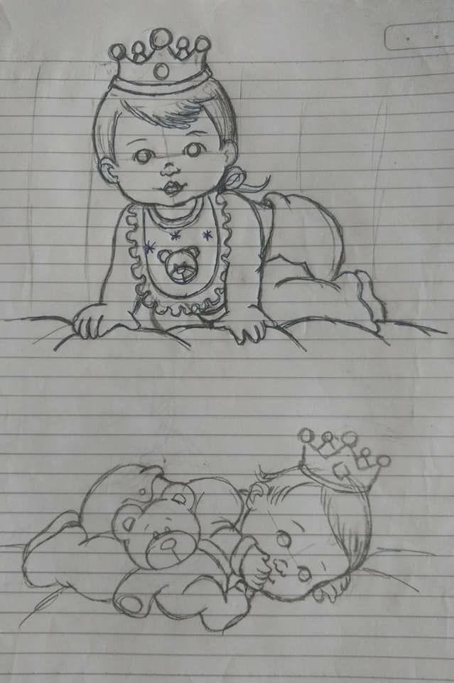 Bebes De Coroa Desenho De Coroas Riscos Para Pintura Desenho