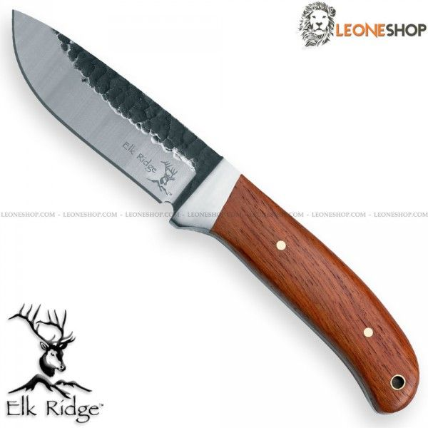 "Fixed blade hunting knife ELK-RIDGE, hunting knives with blade of AISI 440 stainless steel of high quality with satin finishing - Blade lenght 3.5"" - Stainless steel bolsters satin finished - Cocobolo handle a very elegant and precious tropical wood coming from Central America - Overall lenght 8.5"" ​​- Equipped with elegant brown leather sheath - ELK-RIDGE fixed blade hunting knife really exceptional with quality materials and an excellent Italian design."