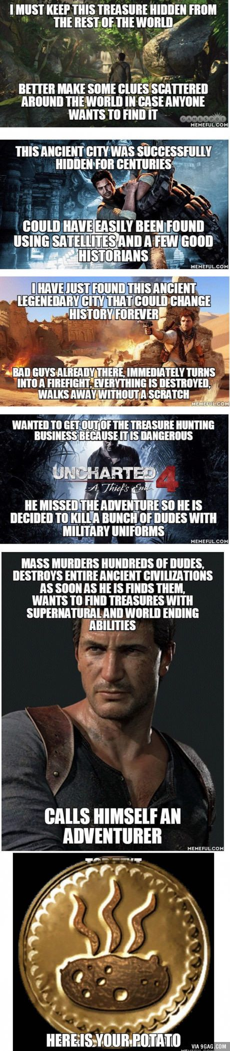(*** http://BubbleCraze.org - You'll never put this Android/iPhone game down! ***)  Uncharted series logic (Still in love with the series)