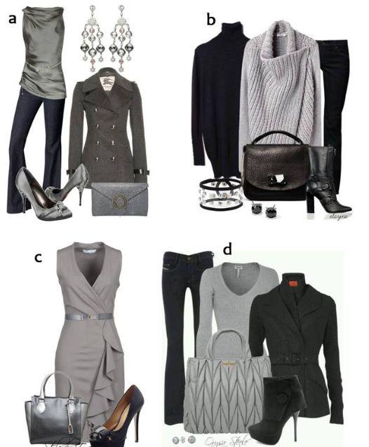 Puedes lograr looks versátiles con el  color gris ¿Cuál es tu preferido?
