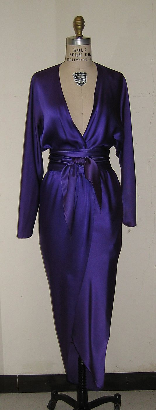 Dress Halston (American, Des Moines, Iowa 1932–1990 San Francisco, California) Date: 1978 Culture: American Medium: silk