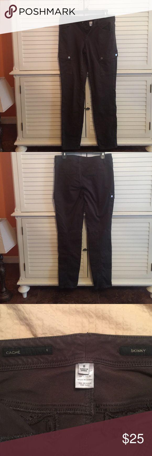 Cache skinny cargo jeans Cache brown , skinny cargo jeans in good condition Cache Jeans Skinny