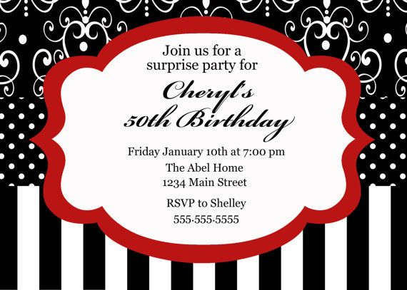 Red Black And White Wedding Invitations: 105 Best Images About Black, Red, And White Party Ideas On