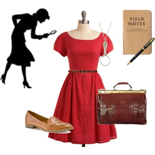 Nancy Drew outfit. Looks like it came from the cover of Secret of the Old Attic!
