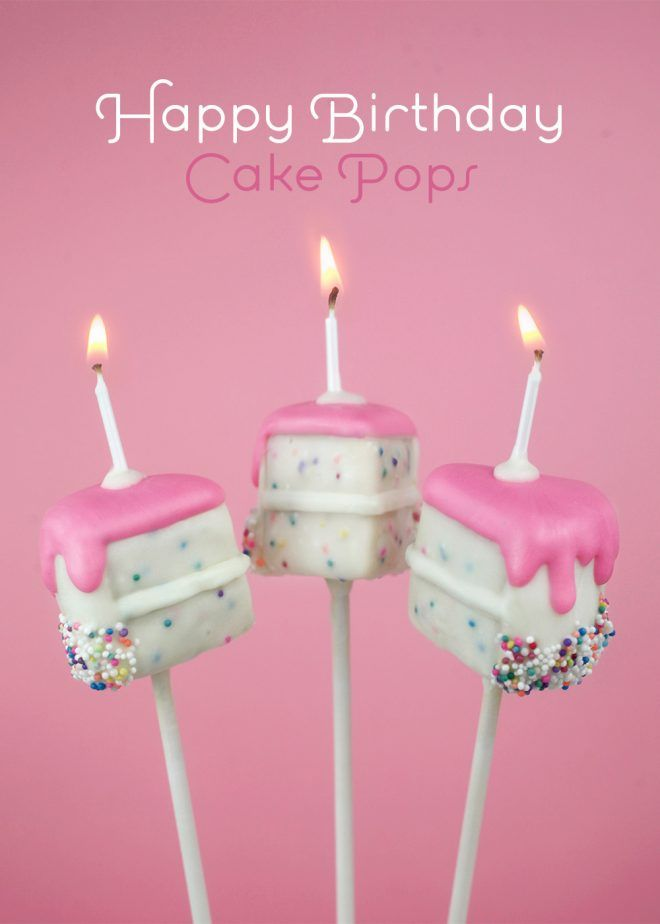 Happy Birthday Cake Pops Bakerella