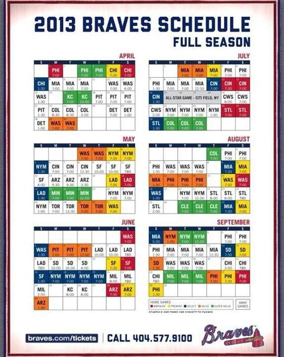 Braves Schedule
