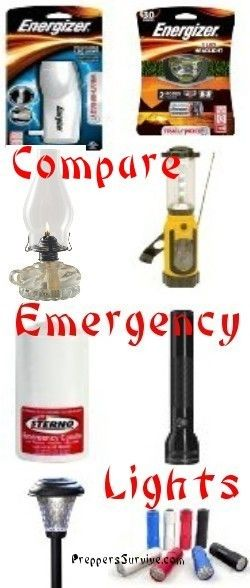 Preppers Survive || 8 Emergency Lights to Consider when Prepping for Power Outages | #prepbloggers #emergency #lights