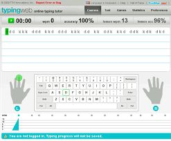 Typing Web: Online typing tutorial.
