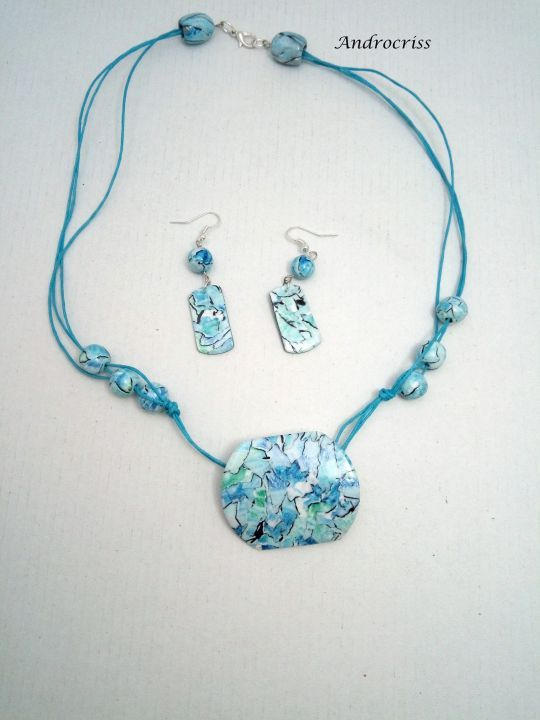 Ice ,set bijuterii din lut polimeric