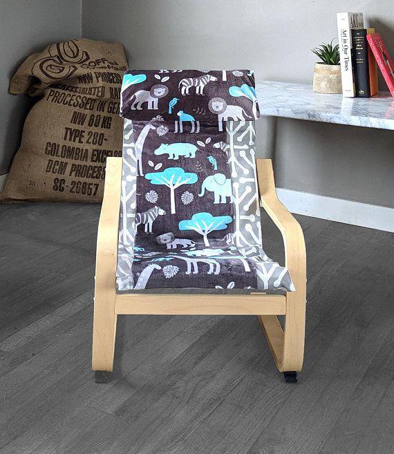 Sale Safari Animals Ikea Kids Poang Cushion Slip Cover Childrens