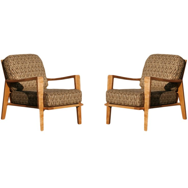 Russel Wright Open Armchairs for Conant-Ball, Pair For Sale at 1stdibs