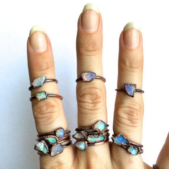 Rohen Opal Ring Grobe Opal Ring Grobe Opal Schmuck von HAWKHOUSE