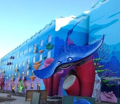 This Mr. Ray at Disney's Art of Animation Resort has a wingspan of 27 feet!