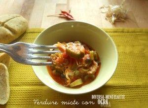Okra con Porro e Salsa di Pomodoro