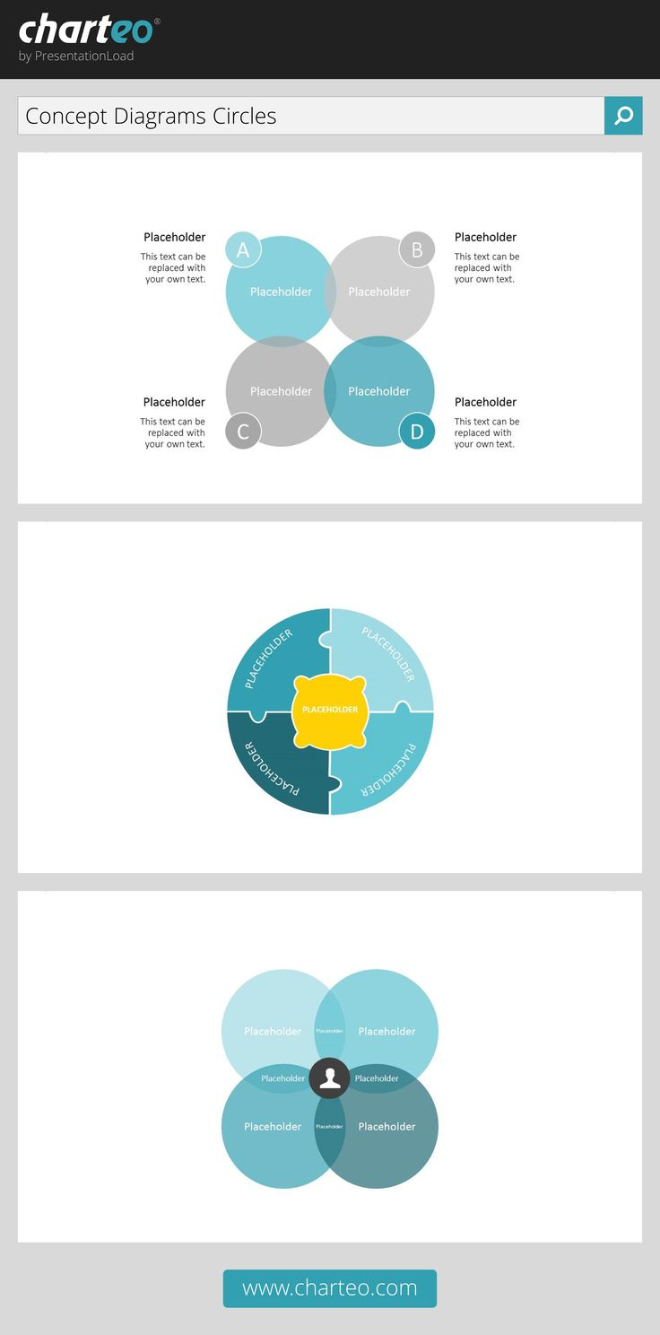 Illustrate your presentation with our venn diagrams to show connections.