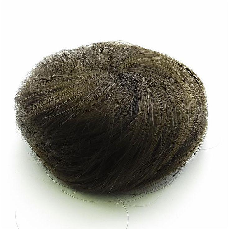 Messy Scrunchie Clip in Hair Bun Extension - Brown