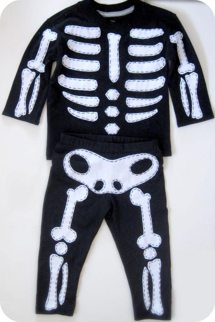 Unusual image in skeleton costume template printable