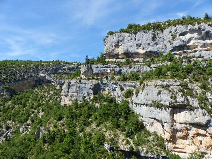 La Nesque prend sa source entre le Ventoux et le Plateau d'Albion, la montagne de Lure et les monts du Vaucluse. Le village de Sault domine la vallée et celui de Monieux garde l'entrée des Gorges. Cette petite rivière a creusé ces immenses gorges profondes....