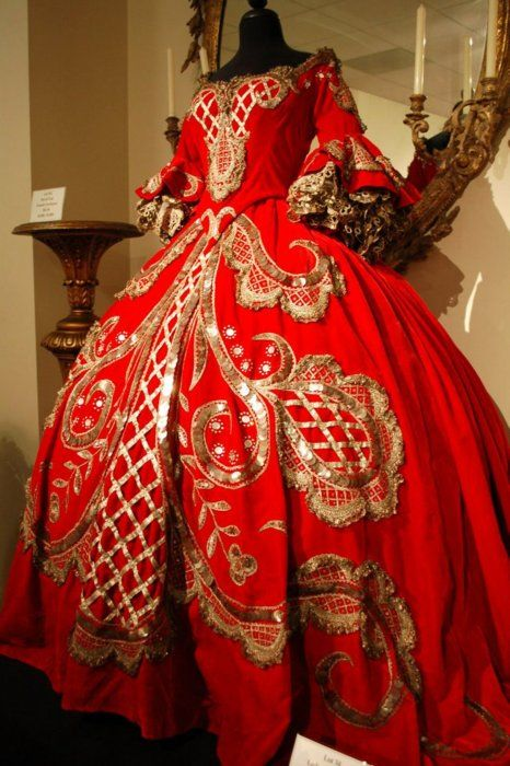 """""""This fabulous dress was designed by Adrian for the film Marie Antoinette.""""    The 1938 version with Norma Shearer. This dress was worn by the Lady-in-waiting!"""