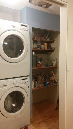 Before, new pantry shelves will go here, more organized and better use of space