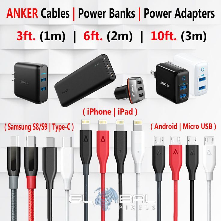 Details about ANKER iPhoneAndroidSamsung USB Cable Charger