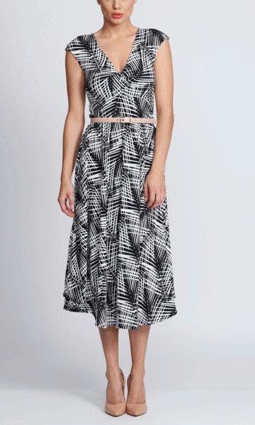 Amity dress in etch print