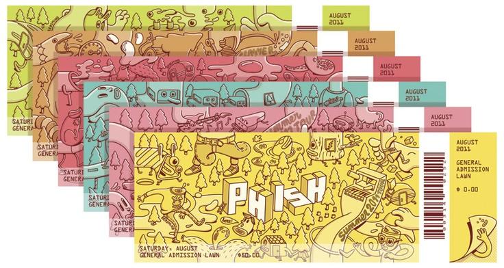 Bronce Laus 2012 | Conjunto de elementos coordinados |  Título: Phish Tickets |  Autor: Brosmind |  Cliente: Phish